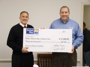 United Way Presents Salisbury Substance Abuse Center With Check