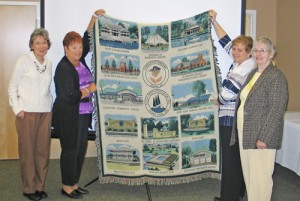 Women's Club Of OP Showcase Its New OP Tapestry