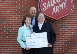 Carol Steffy Spirit Of Esther Fund Contributes $350 To The Salvation Army's League Of Mercy
