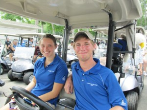 Jake Miller And Kate Kotoski Win First Place In Taylor Bank Golf Tournament