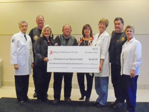 Breast Cancer Center Receives Check