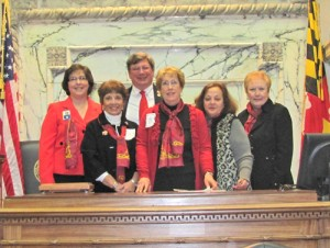 Republican Women Of Worcester County Attend Red Scarf Day In Annapolis
