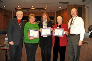 Wicomico County Board Of Ed President And Superintendent Of Schools Recongnize Support Staff Employees Of The Month