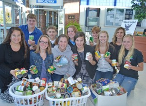 SD High National Honor Society Contribute Canned Goods To Diakonia