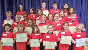 OC Elementary Honors February Students Of The Month