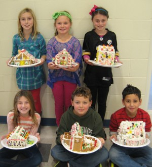 Fourth Graders At OC Elementary Create Gingerbread Houses