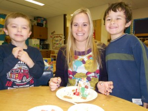 Showell Elementary Kindergartners Construct Gingerbread Cottages