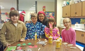 Students And Parents At Showell Elementary Create Winter Crafts