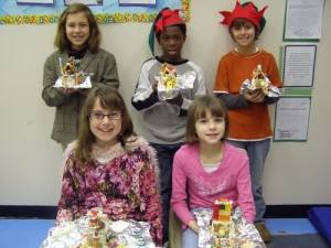 BIS 4th Graders Use Math Skills to Construct Gingerbread House