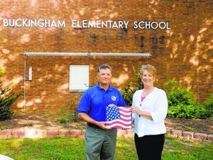 Buckingham Elementary School Principal Roger Pacella Receives American Flag Flown Over United States Capitol From The Office Of Congressman Andy Harris