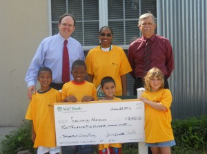 M&T Bank Presents $2,500 Check To Salisbury Horizons