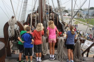 Hundreds Of Area Students Tour Tall Ship In OC