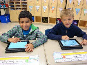 OC Elementary Second Grade Class Enjoys Learning How To Use Kuno Tablets