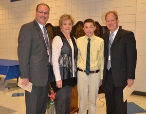 Wyatt Bishop Recognized During 11th Annual SDHS Presidential Service Award Ceremony