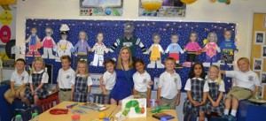 Kindergarten Class At Worcester Prep Enjoy Making Images Of Themselves