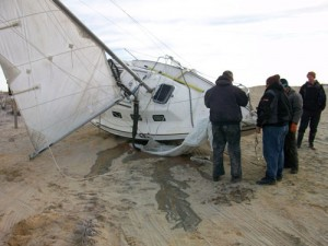 Boat Grounded On Assateague; Captain Was Headed From New York To Florida