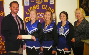 Ocean City Lions Club Presents Check For $300 To Stephen Decatur High School Cheer Squad