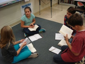 Fourth Grade Class At Ocean City Elementary Participate In Literature Discussion Group