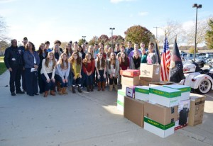 Several Stephen Decatur High School Classes And Clubs Join Forces To Support The Troops