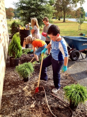 Third Grade Gardeners From Showell Elementary Help With Beautification Of School Grounds