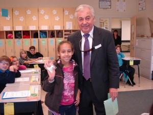 County Commissioner Bud Church Visits OC Elementary Classroom