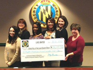 United Way Of The Lower Eastern Shore Recognizes Worcester County Government Employees For Their Generous Support