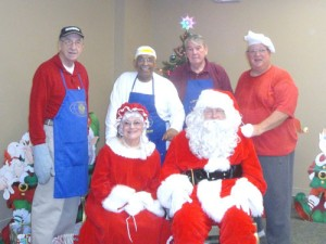 Santa And Mrs. Claus Enjoy Breakfast At The Ocean Pines Community Center