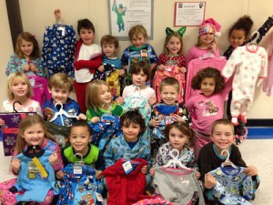 Kindergarteners At Showell Elementary School Donate Pajamas To The Pajama Drive Organization