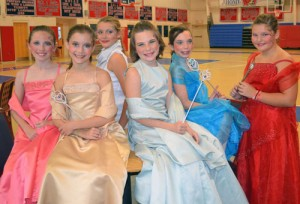 Worcester Prep's Beautiful Witches From The Production Of The Spell Of Sleeping Beauty Gather For A Photo