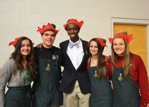 Christmas Elves Serve A Delicious Luncheon At Worcester Prep's Christmas Bazaar
