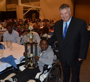 Injured BIS Student Honored with Tough Guy Award