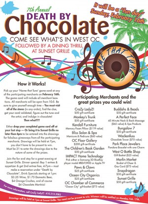 New Theme For Sunday's Death By Chocolate Event