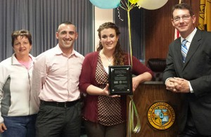 City Of Salisbury And Salisbury University Present 3rd Friday Coordinator With Downtown Salisbury Positive Impact Award