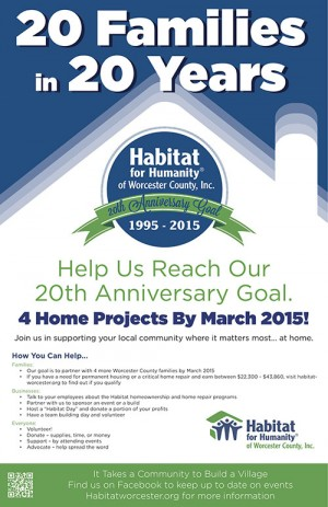 """Habitat Announces """"20 Families In 20 Years"""" Campaign"""