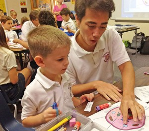 Worcester Prep Sophomore Biology Class Invites Kindergarten Class To Learn About Animal Cells