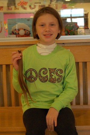 Cathell, Fourth Grade Student At OC Elementary, Donates Hair To Wigs For Kids