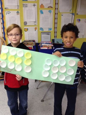 Associative Property Models Made By Showell Elementary Third Grade Students