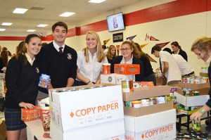 Worcester Prep's Student Body Collects Food Donations
