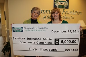 CFES Awards Salisbury Substance Abuse Community Center, Inc. With $5,000 Community Needs Grant