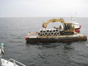 OC Reef Foundation Sinks New Materials Offshore