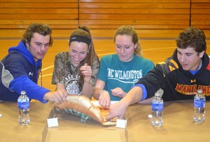 SD High School Seniors Team Up For Mu Alpha Theta Annual Pie Eating Contest