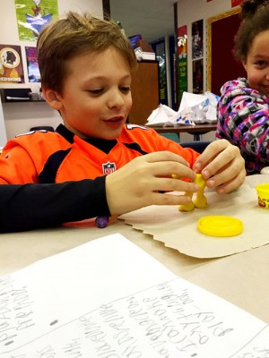 Third Graders At Showell Elementary Manuipulate Play-Doh As Part Of Exercise Debating The Learning Value Of The Product