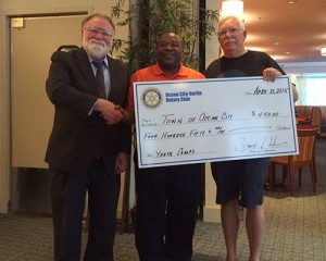 Ocean City-Berlin Rotary Club Makes Donation To Town Of OC's Department Of Recreation
