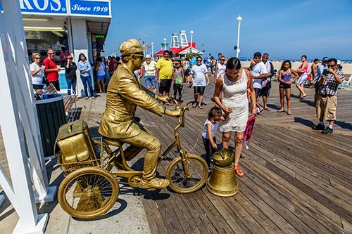 On Ocean Citys Boardwalk, Costumed Performers Prompt