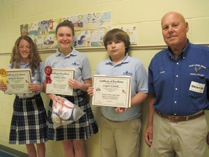 Annual Drug Awareness Poster And Essay Contest Winners Awarded A Plaque And Soccer Ball For Their Essays