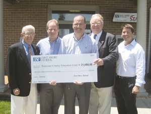 Bank Supports Worcester Education Foundation's Efforts