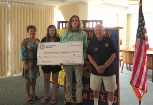 OC/Berlin Rotary Club Presents Scholarships To Britany Wangel And Jackson Mumford