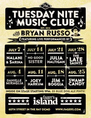 Tuesday Nite Music Club Returns To Fager's Next Week