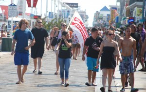 Students Lead Demonstration In Ocean City For D.C. Statehood