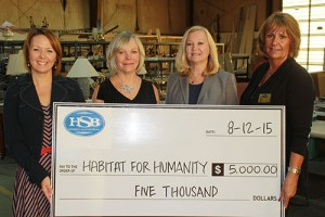 Hebron Savings Bank Makes $5,000 Contribution To Habitat For Humanity